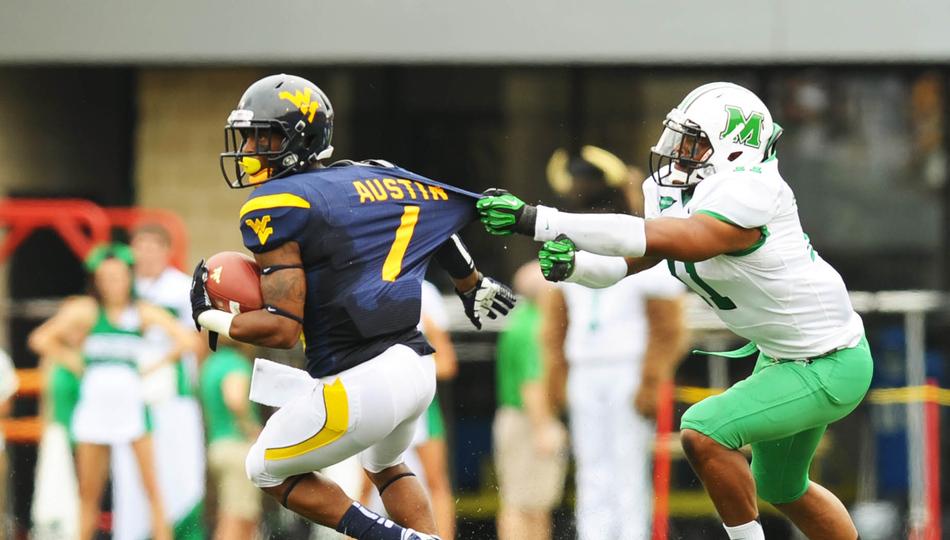 NCAA Football: Marshall at West Virginia